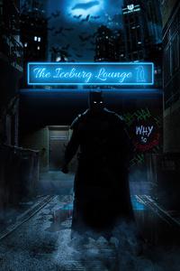 1080x1920 Batman In Neon Alley 5k