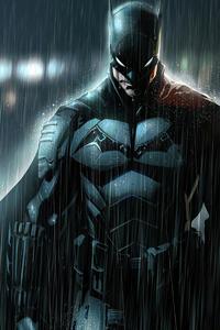 Batman In Rain 4k