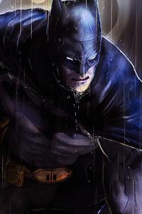1080x1920 Batman In Rain Art