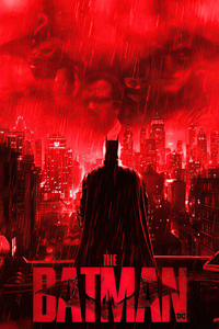 750x1334 Batman In Red City 4k