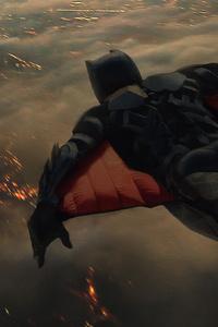Batman In Sky Plane