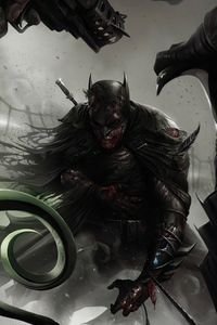 1080x2160 Batman Injured Artwork