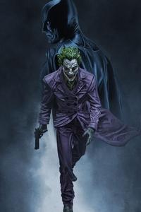 1080x2280 Batman Joker Away