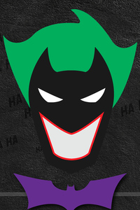 1440x2960 Batman Joker Minimal Typography