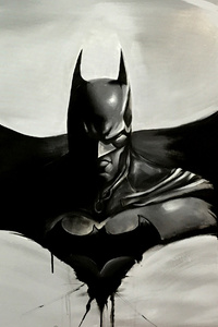Batman Logo Sketch Art