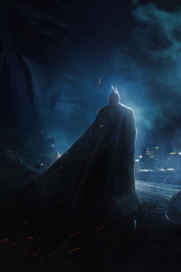 Batman Looking The City 4k