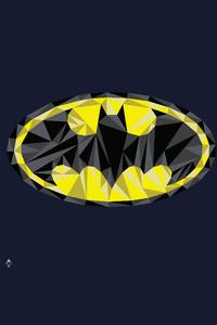 Batman Low Poly Logo