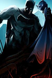 1440x2560 Batman Mask Off Artwork
