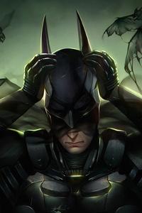 Batman Mask Off