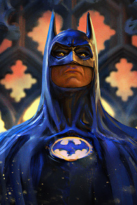 750x1334 Batman Michael Keaton Art