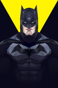 1242x2688 Batman Minimal 4k