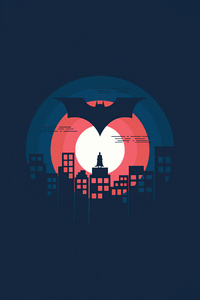 800x1280 Batman Minimal Illustration 5k