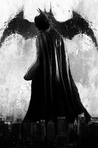 540x960 Batman Monochrome 2020 4k