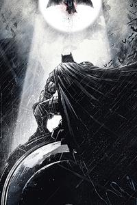 800x1280 Batman Monochrome 4k