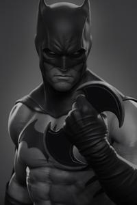1280x2120 Batman Monochrome Art 4k
