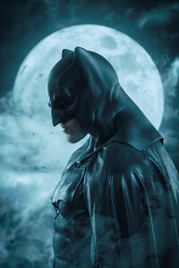 Batman Moon Behind