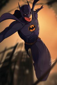 1242x2688 Batman Nostalgia Suit