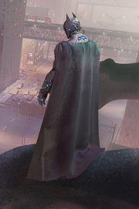 640x960 Batman On Roof