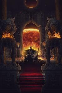 Batman On Throne