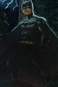 Batman Over Gotham Art