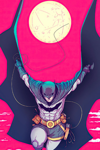 640x960 Batman Pink Sketch Artwork