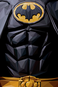 320x568 Batman Polygon Art 4k