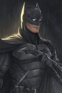 640x1136 Batman Raining