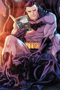 1280x2120 Batman Reading Book