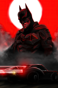 Batman Red 4k 2020
