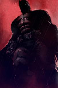 Batman Red Background 4k