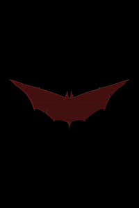 540x960 Batman Red Logo 8k