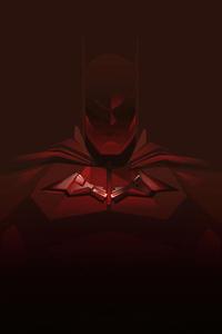 640x1136 Batman Red Minimal 4k
