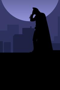 1280x2120 Batman Rooftop Minimal 8k