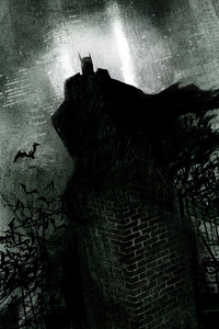 320x568 Batman Sketch Newart