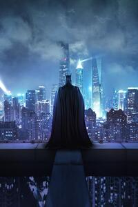 Batman Standing On The Rooftop