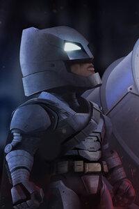 Batman Standing With Bat Signal