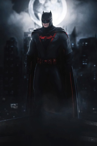 Batman Suit Red Logo 2020
