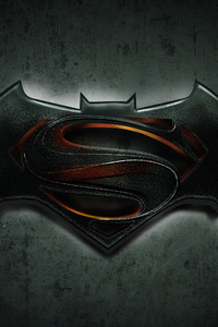 Batman Superman Logo 4k
