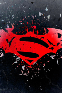 640x960 Batman Superman Logo Art 4k