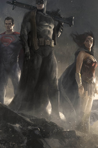 Batman Superman Wonder Woman Art