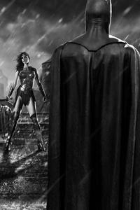 800x1280 Batman Superman Wonder Woman Black 4k