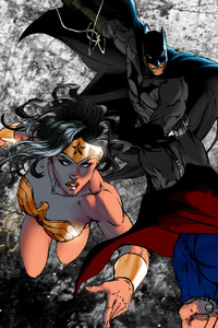 Batman Superman Wonder Woman Dc Comic Art