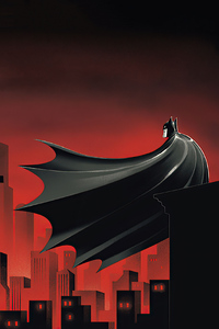 Batman The Animated Series Red World 4k