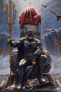 1280x2120 Batman Throne King