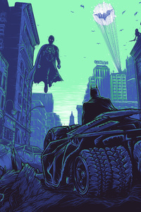 480x800 Batman V Superman Art 4k