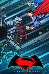 1125x2436 Batman V Superman Comic Fan Art