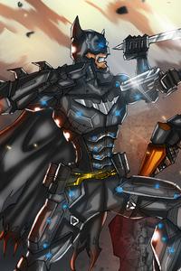 Batman Vs Deathstroke Art