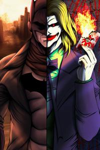 1080x1920 Batman Vs Joker Game Of Cards 4k