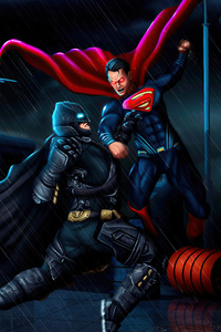 480x854 Batman Vs Superman 5k