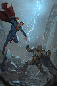 750x1334 Batman Vs Superman Fight Scene 5k